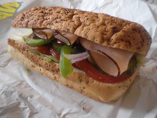 Subway Turkey Sandwiches  217 Subway Turkey Breast Sandwich
