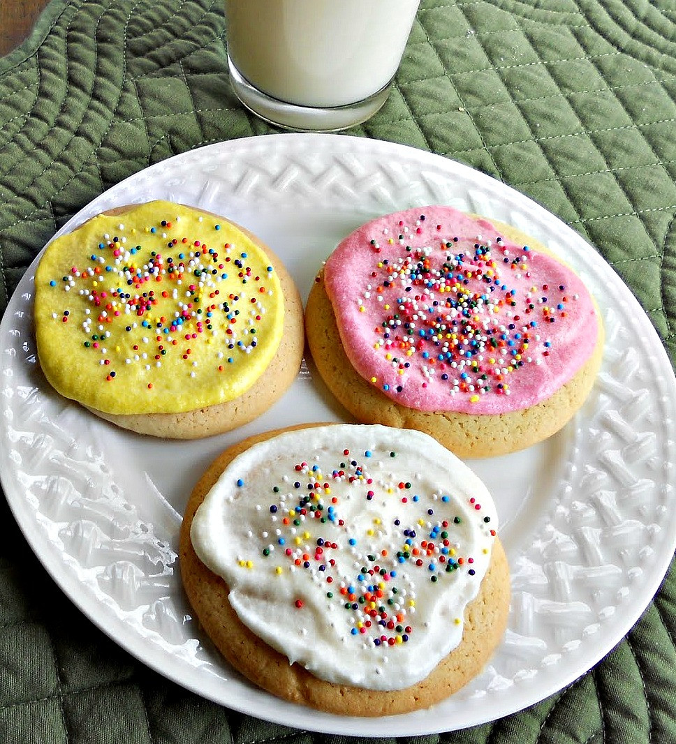 Sugar Cookies With Icing  Best Ever Sugar Cookies with Buttercream Frosting Just