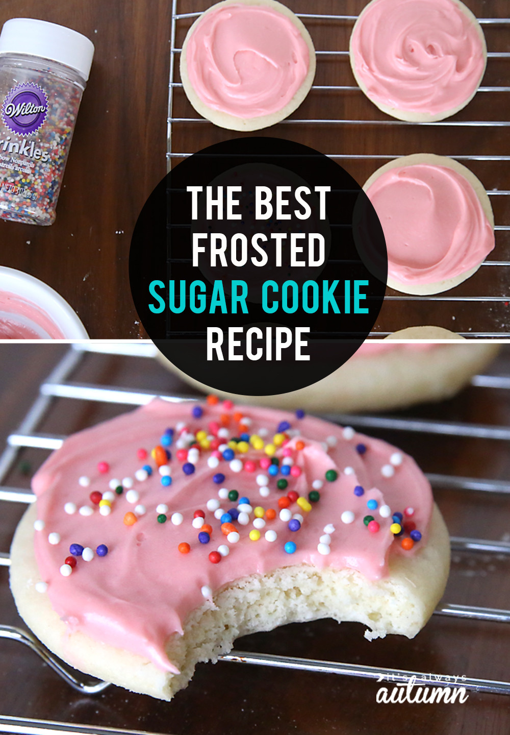 Sugar Cookies With Icing  The very best soft sugar cookie cream cheese frosting