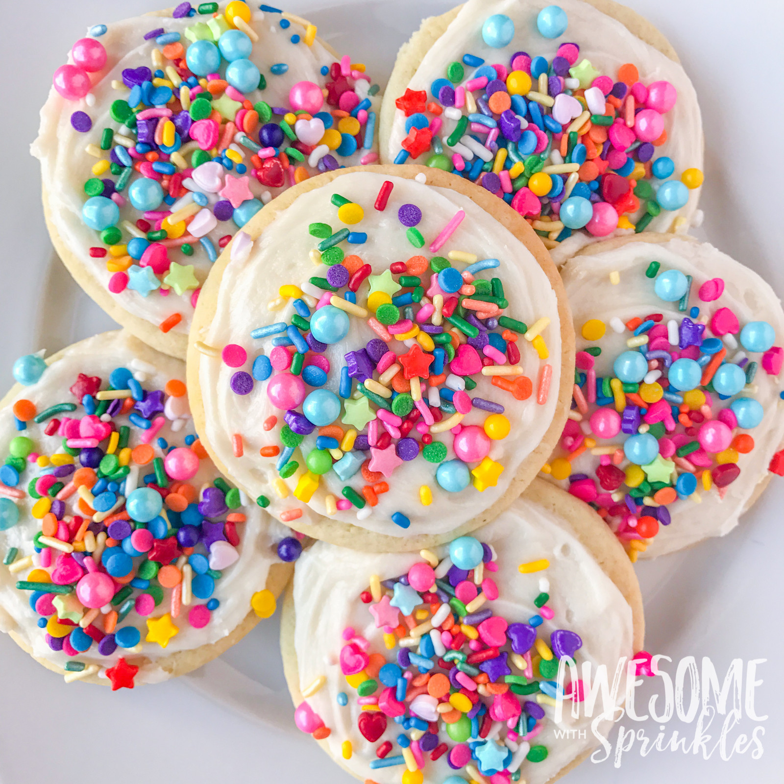 Sugar Cookies With Sprinkles  The Most Awesome Ever Sugar Cookies Awesome with Sprinkles