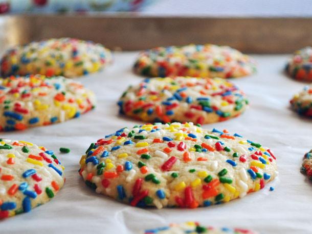 Sugar Cookies With Sprinkles  Vanilla Sprinkle Cookies Recipe