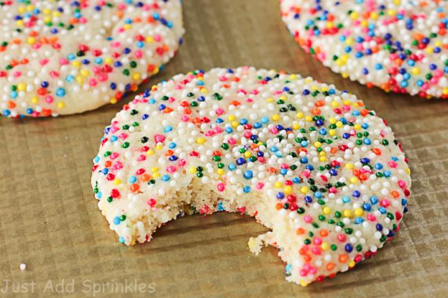 Sugar Cookies With Sprinkles  Sprinkled Sugar Cookies Just Add Sprinkles