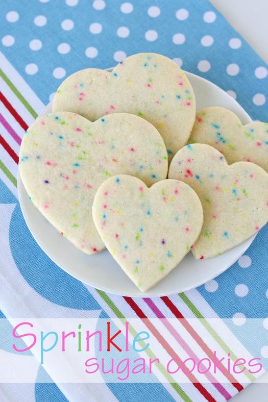 Sugar Cookies With Sprinkles  Sprinkle Sugar Cookies – Glorious Treats