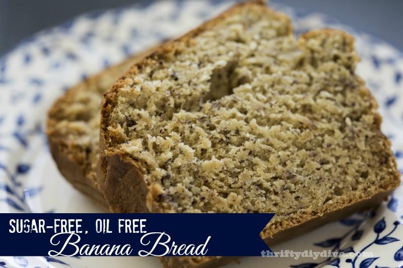 Sugar Free Banana Bread  Low Carb Sugar Free Chocolate Chip Banana Bread