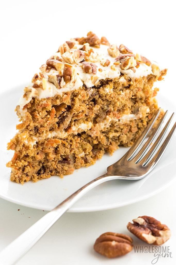 Sugar Free Cake Recipe  Low Carb Keto Sugar Free Carrot Cake Recipe with Almond Flour