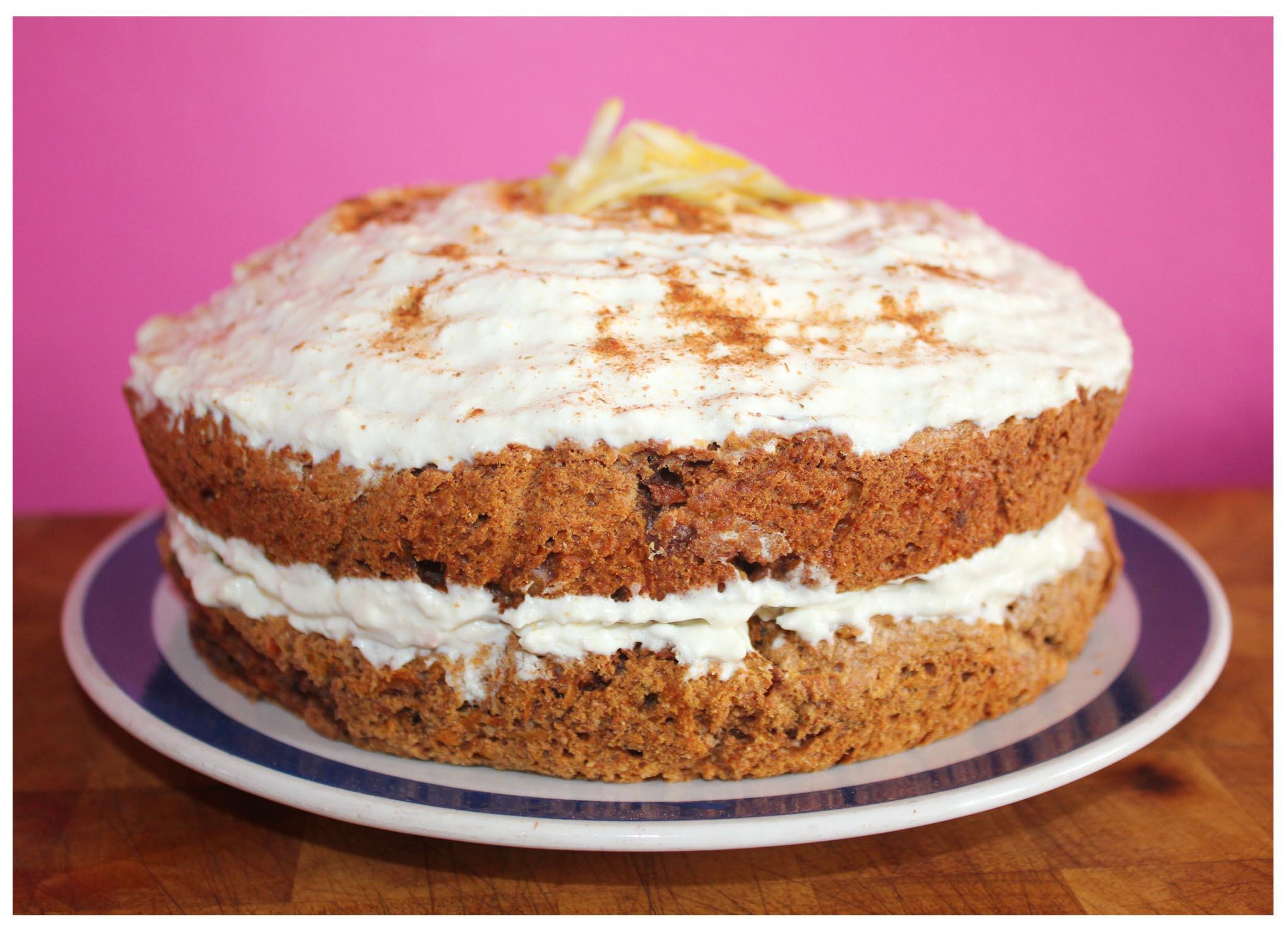 Sugar Free Cake Recipe  Recipe for Carrot Banana Vanilla Sponge Carrot Fruit Cake