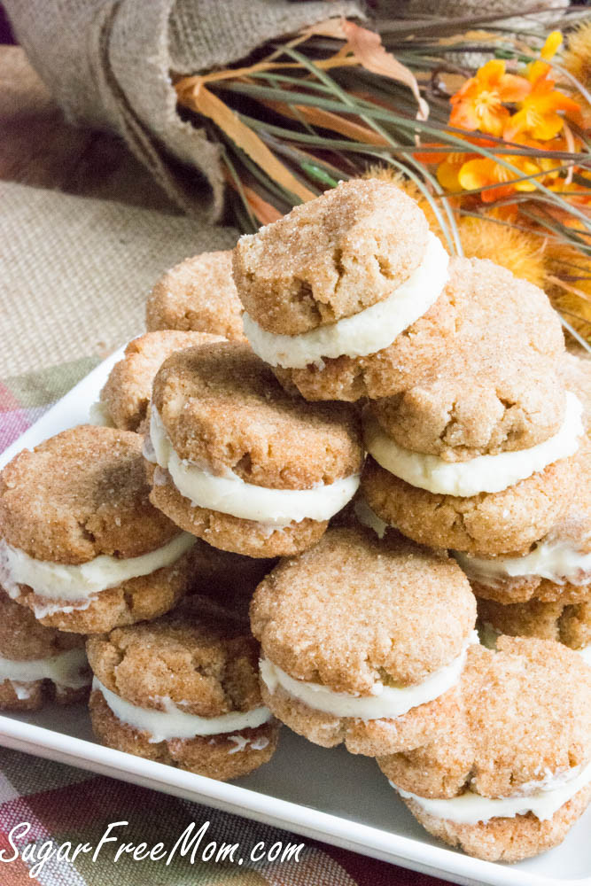 Sugar Free Cookies  Sugar Free Snickerdoodle Creme Cookies