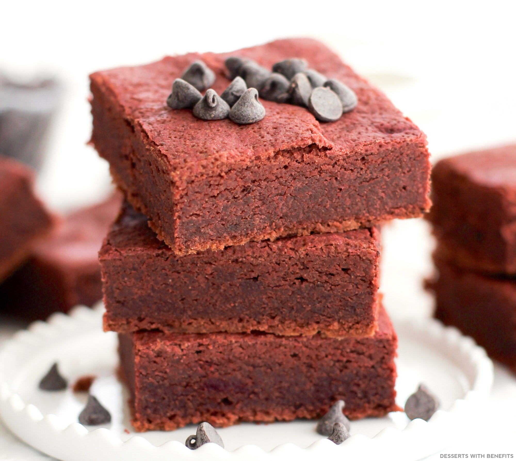 Sugar Free Dairy Free Desserts  Desserts With Benefits Healthy Red Velvet Brownies