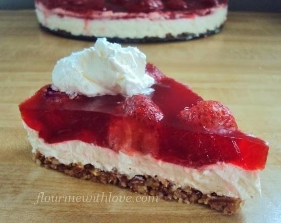 "Sugar Free Dessert  Lower Carb Sugar Free Strawberry ""No Pretzel"" Dessert"