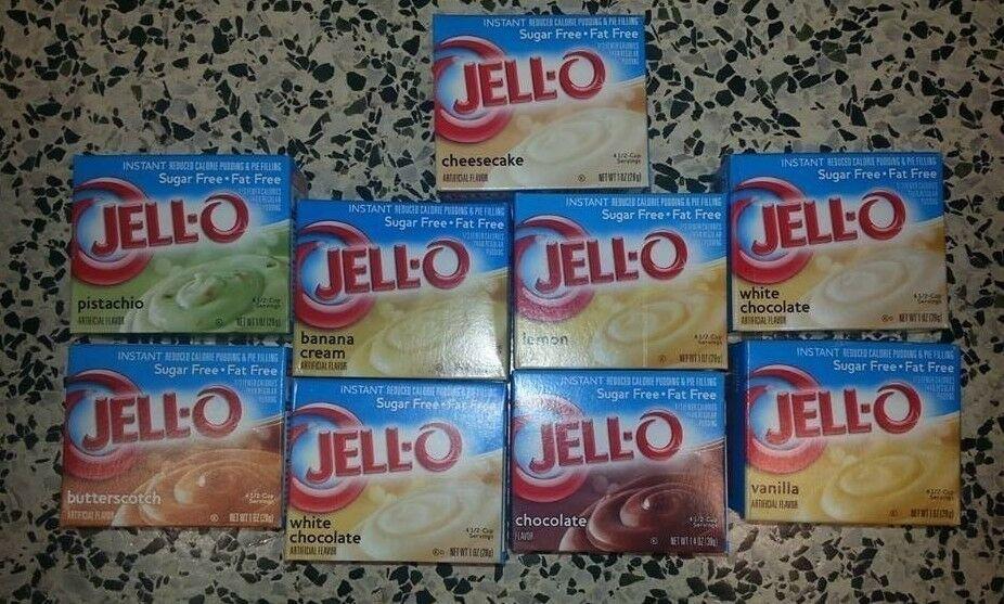 Sugar Free Desserts To Buy  Jell O SUGAR FREE Instant Pudding JELLO Dessert CHOOSE