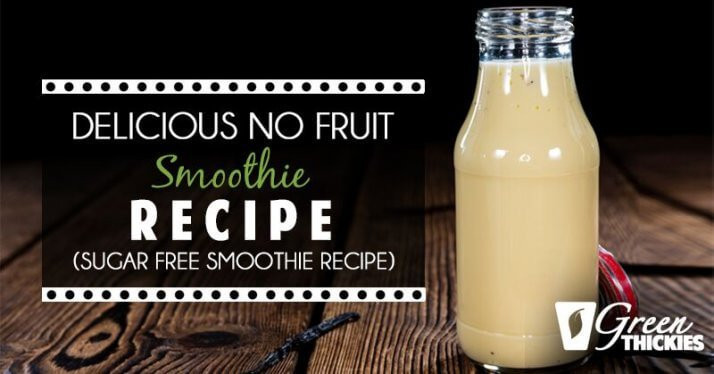 Sugar Free Smoothies  Creamy Filling No Fruit Smoothie
