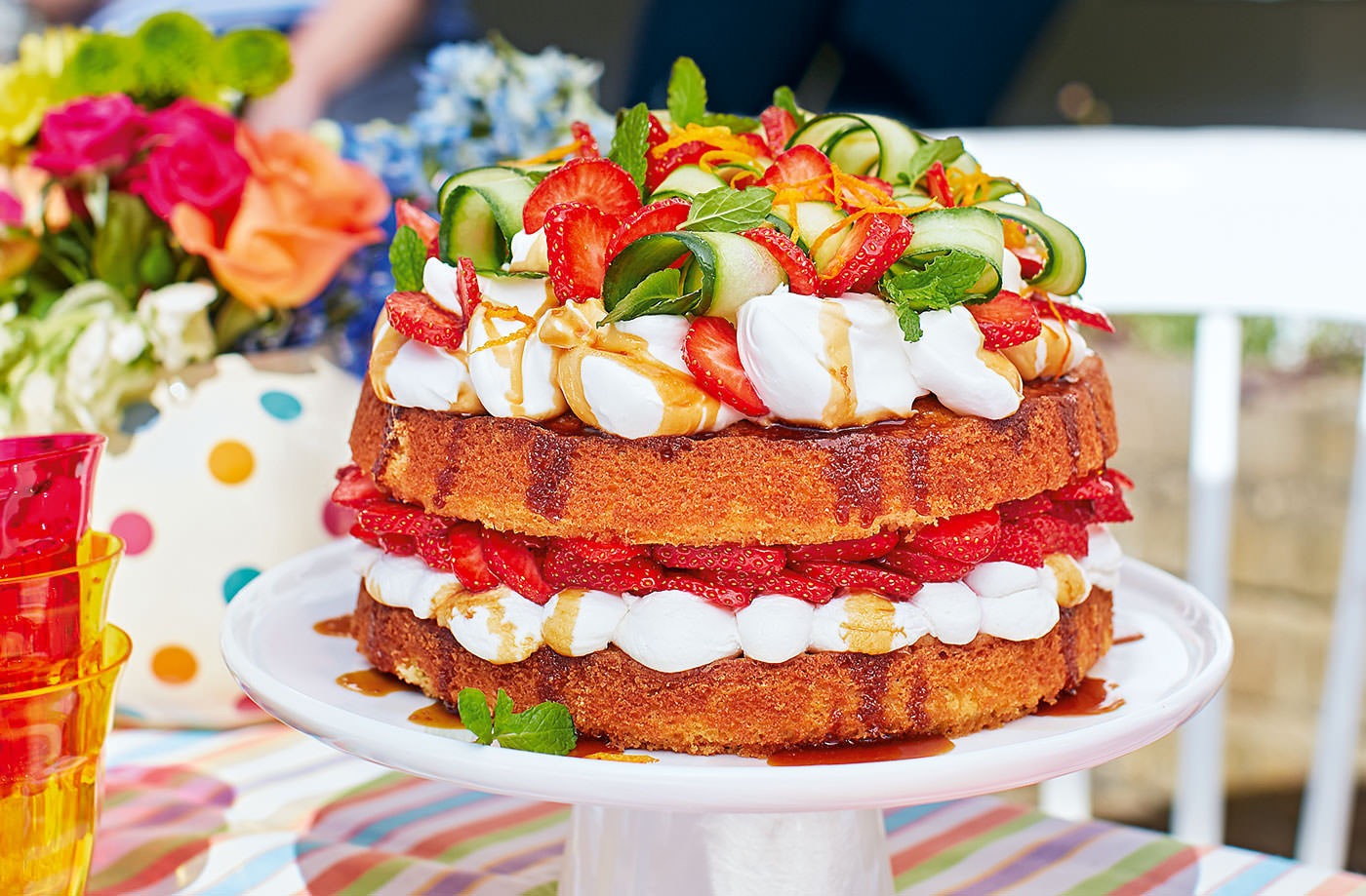Summer Cake Recipes  Pimms Layer Cake Recipe Summer Cake Recipes
