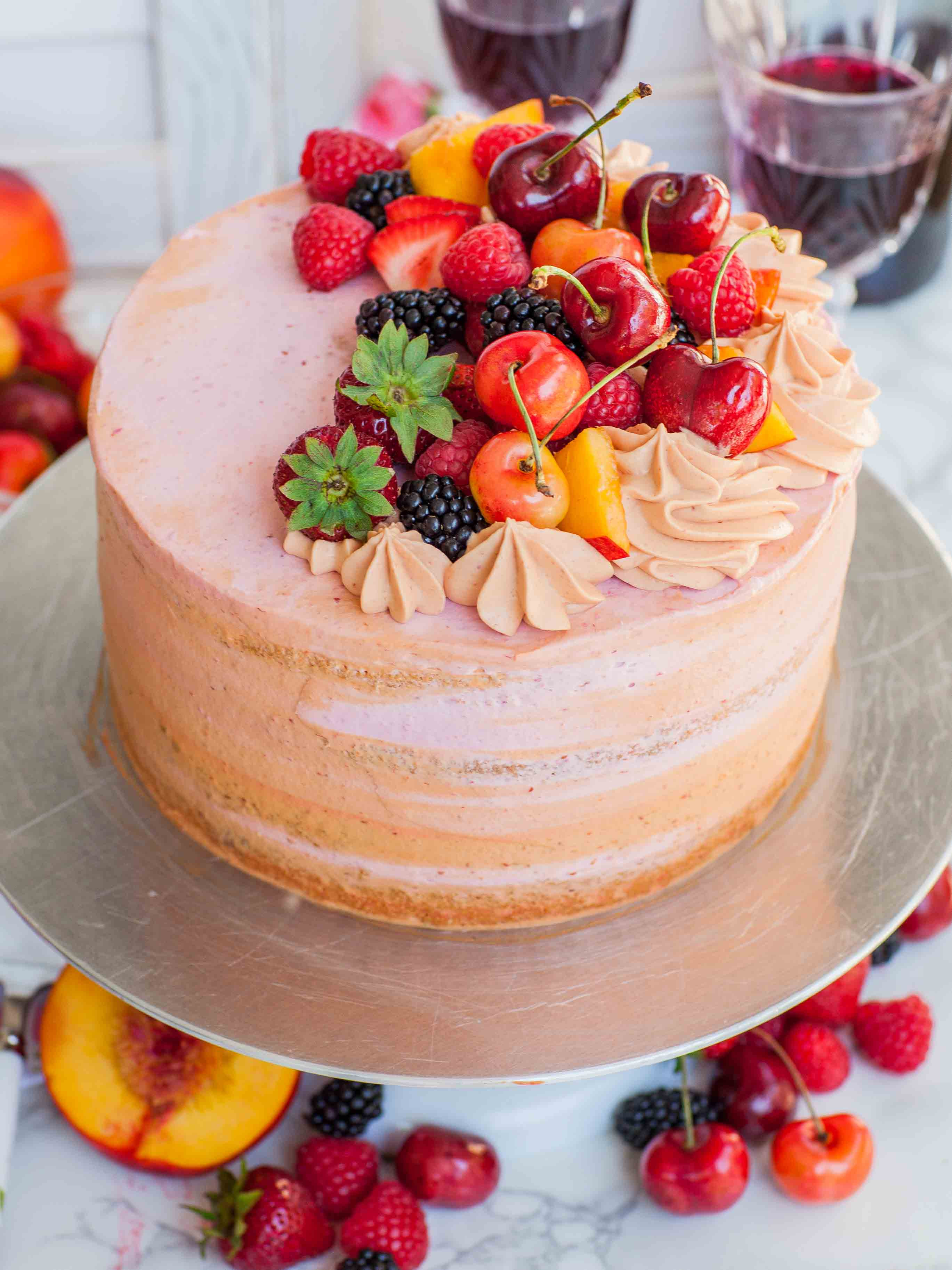 Summer Cake Recipes  Summer Sangria Cake Tatyanas Everyday Food