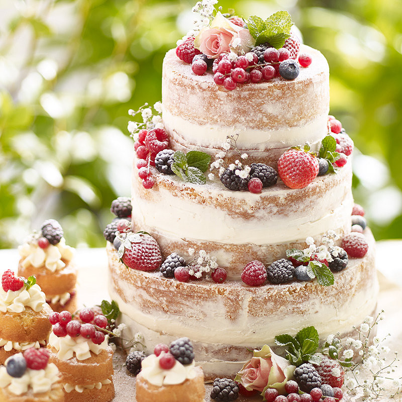 Summer Cake Recipes  Tiered Summer Berries Cake Cake Recipes