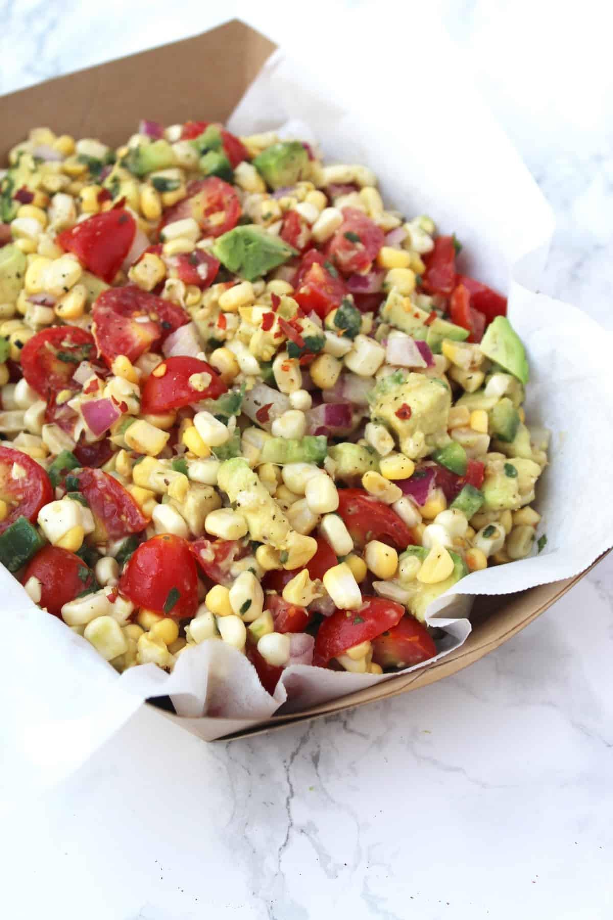 Summer Corn Salad  Raw Summer Corn Salad Eat the Gains