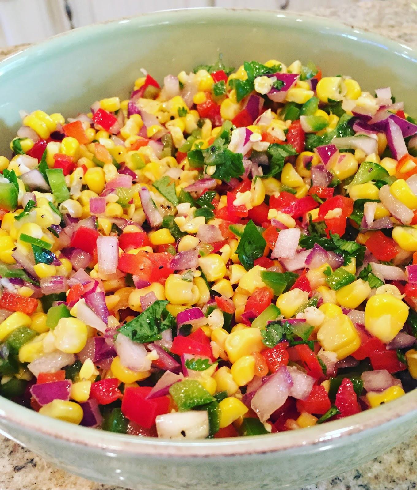 Summer Corn Salad  Lindsey Lately Weekend Update Summer Corn Salad