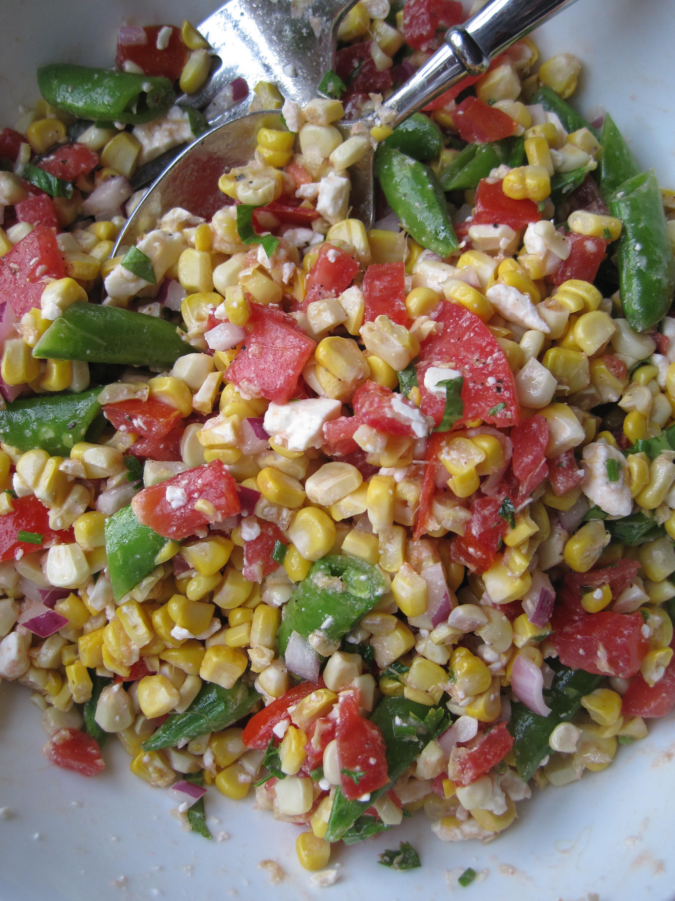 Summer Corn Salad  Summer Corn Salad – Minced