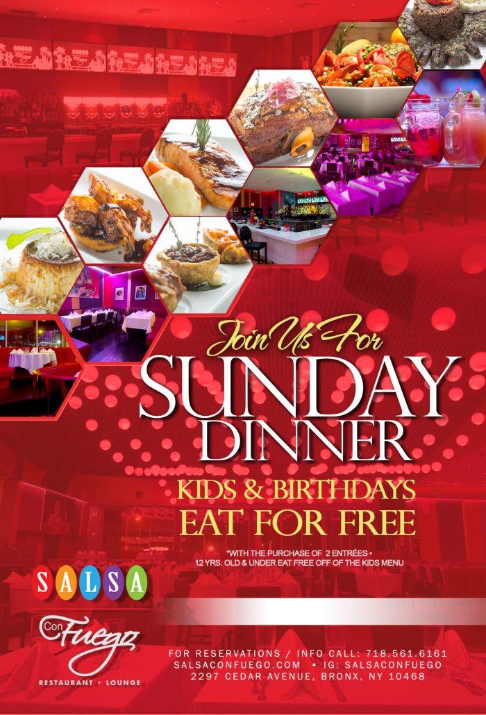 Sunday Dinner Specials  Specials Salsa