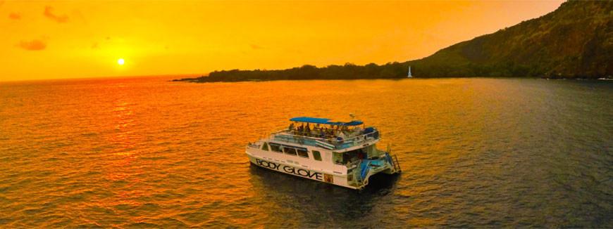 Sunset Dinner Cruise  Sunset Dinner Cruise to Kealakekua Bay Kona Hawaii