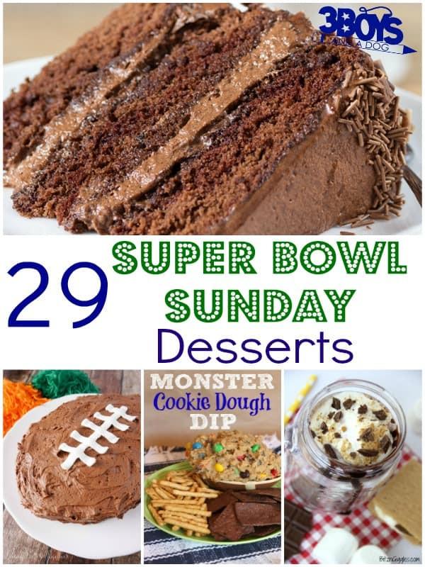 Super Bowl Desserts Ideas  29 Super Bowl Sunday Desserts 3 Boys and a Dog – 3 Boys