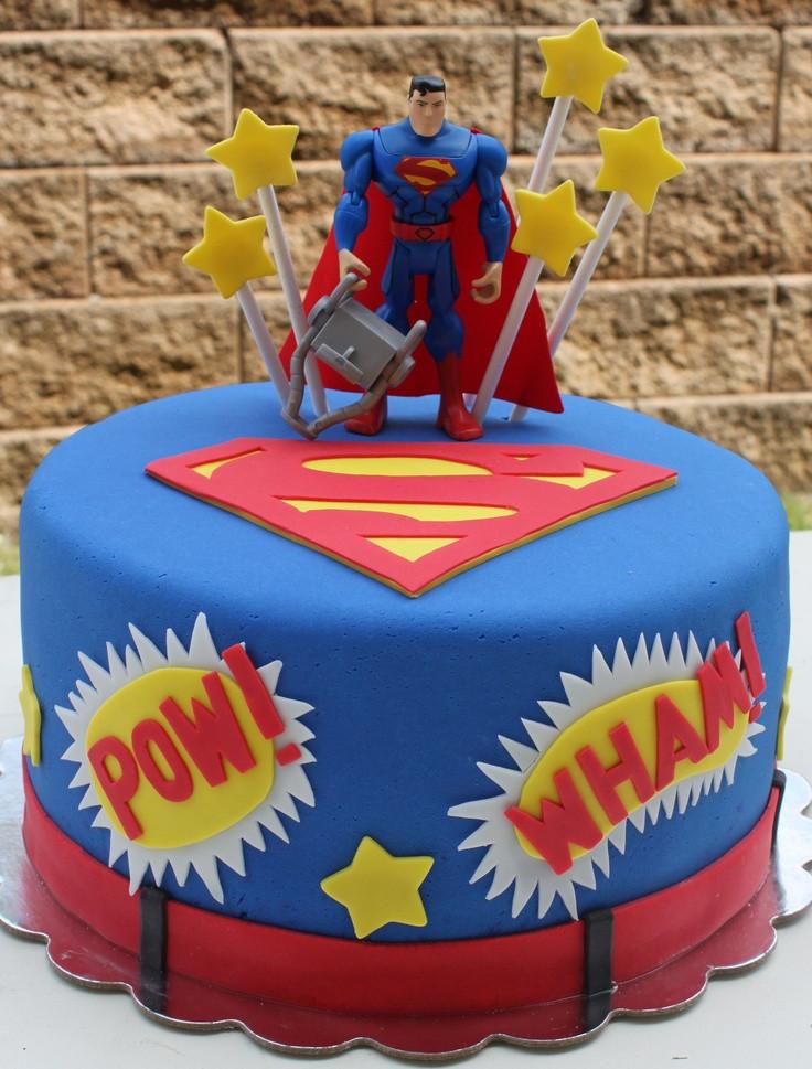Superman Birthday Cake  Superman Fondant Cake