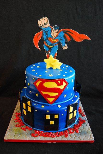 Superman Birthday Cake  Superman cakes Superman and Cakes on Pinterest