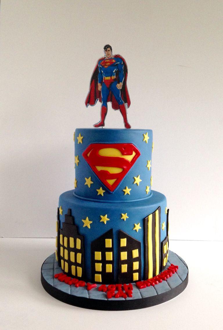 Superman Birthday Cake  Superman cake My cakes Pinterest