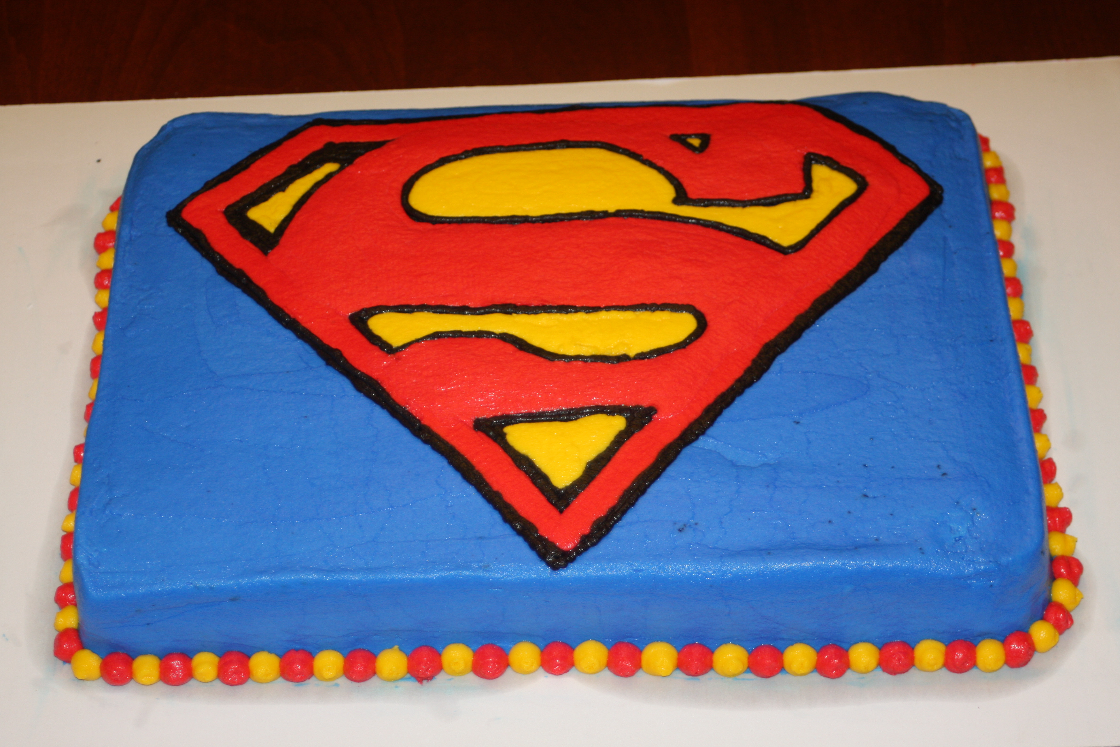 Superman Birthday Cake  Superman birthday cake
