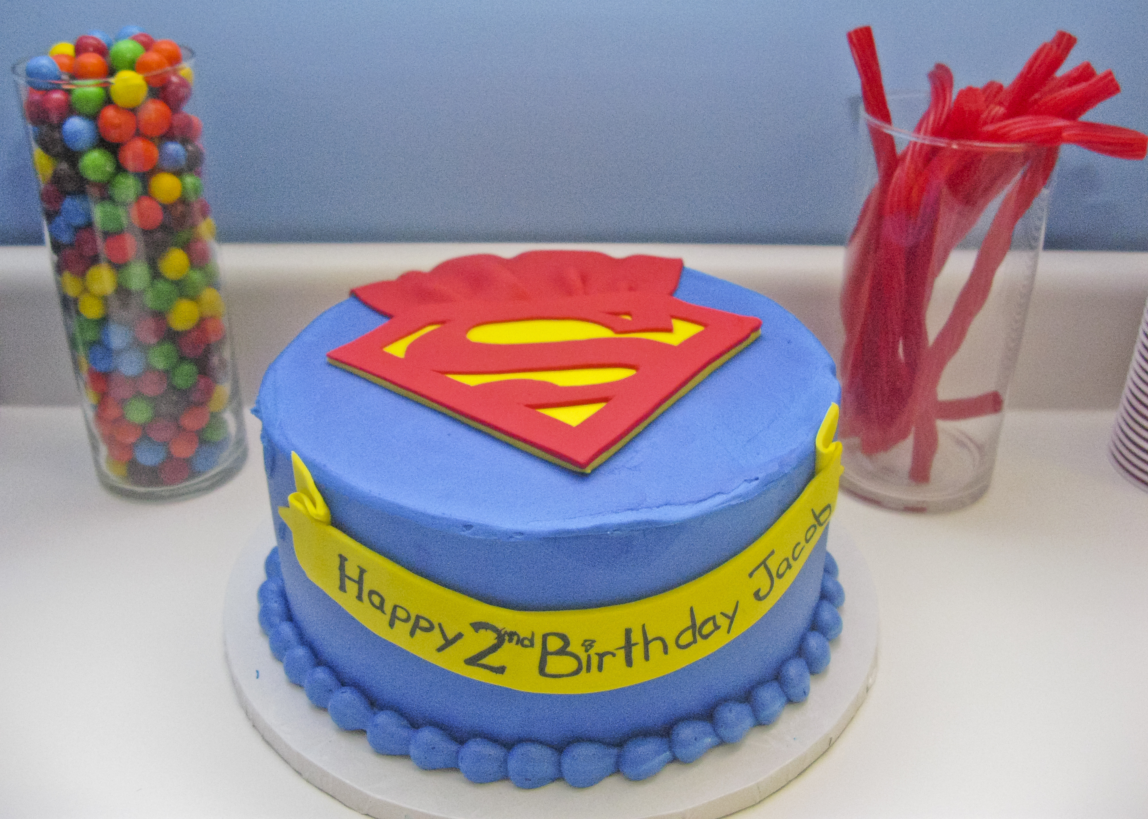 Superman Birthday Cake  Jacob's Superman Birthday Party