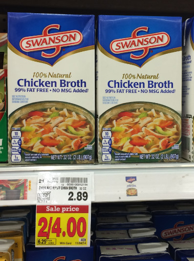 Swanson Chicken Noodle Soup  Swanson Chicken Broth Coupon = $1 50 at Kroger Reg $2 89