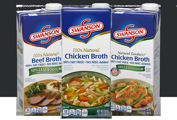 Swanson Chicken Noodle Soup  RELIABLE SWANSON BROTHS AND STOCKS MEAN BUSINESS