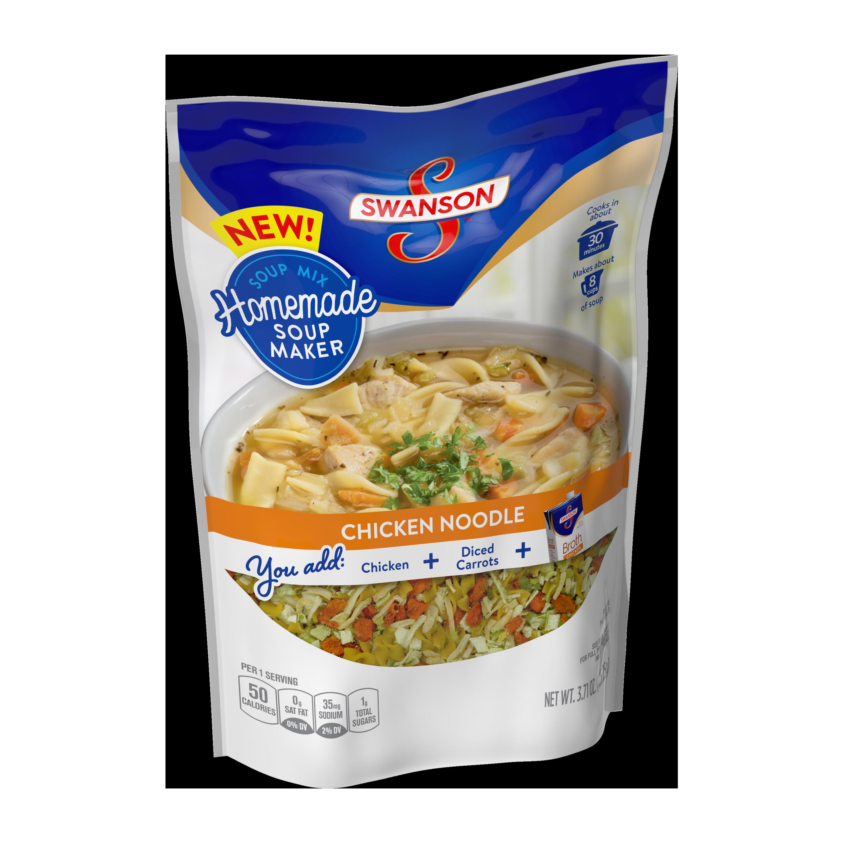 Swanson Chicken Noodle Soup  Ve able Beef Noodle Soup Mix Swanson
