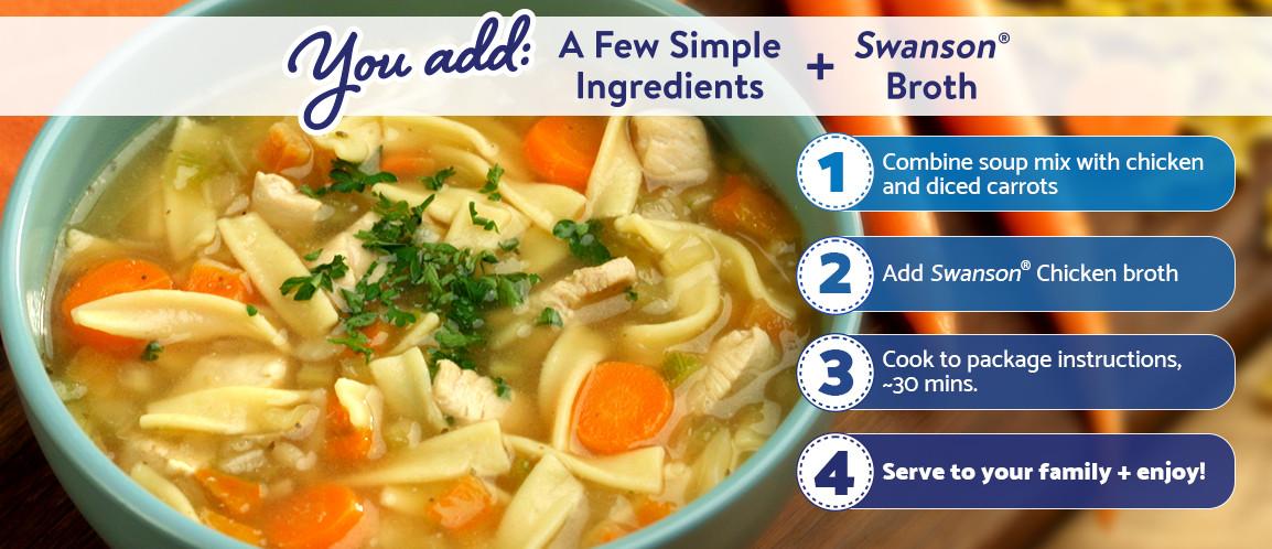 Swanson Chicken Noodle Soup  Chicken Noodle Soup Mix Swanson