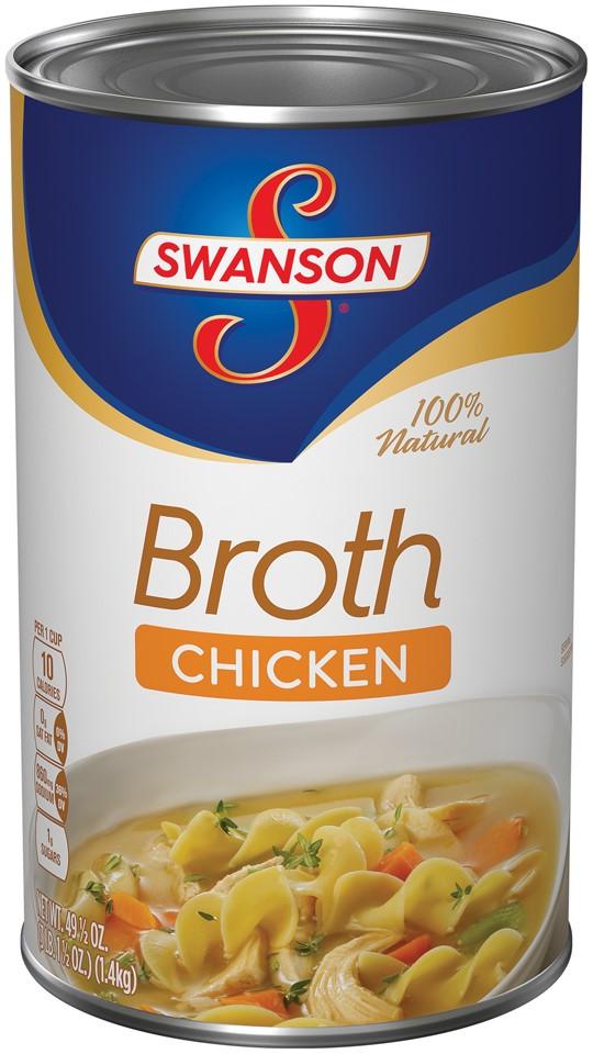 Swanson Chicken Noodle Soup  Swanson Fat Free Chicken Broth 49 5 Oz
