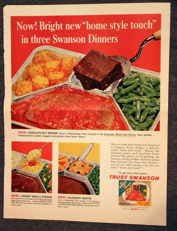 Swanson Frozen Dinners  Swanson Frozen Dinner Ad Early 1960s Viceroy Cigarettes on