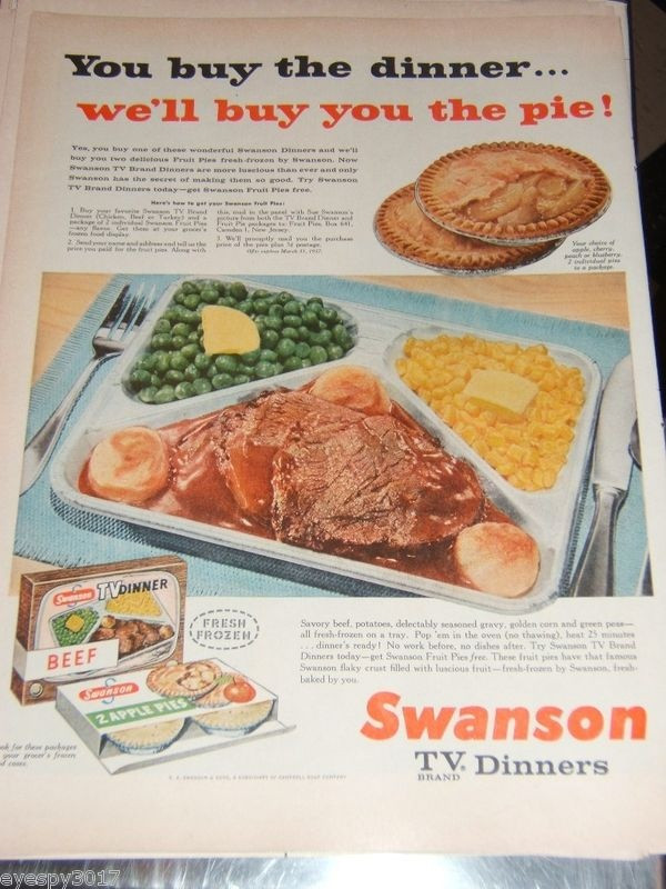 Swanson Frozen Dinners  63 best images about Remember these TV dinners on Pinterest
