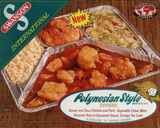 Swanson Frozen Dinners  These 8 vintage frozen TV dinners look strange and