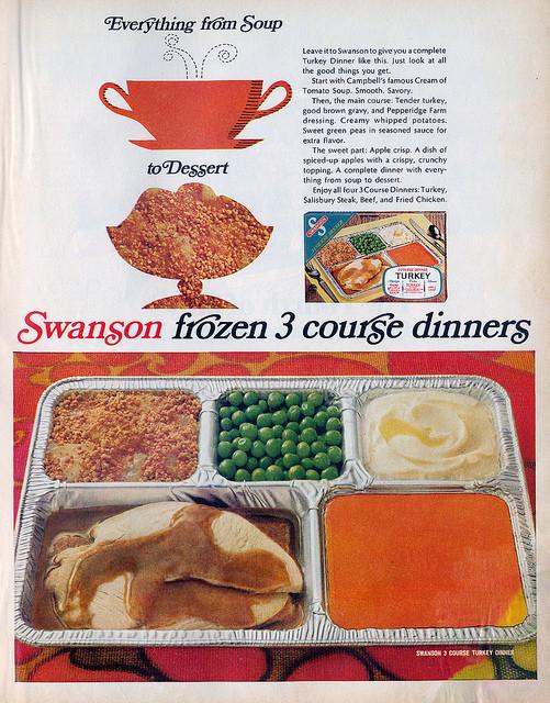 Swanson Frozen Dinners  Swanson 3 Course Frozen Dinner Ad 1968