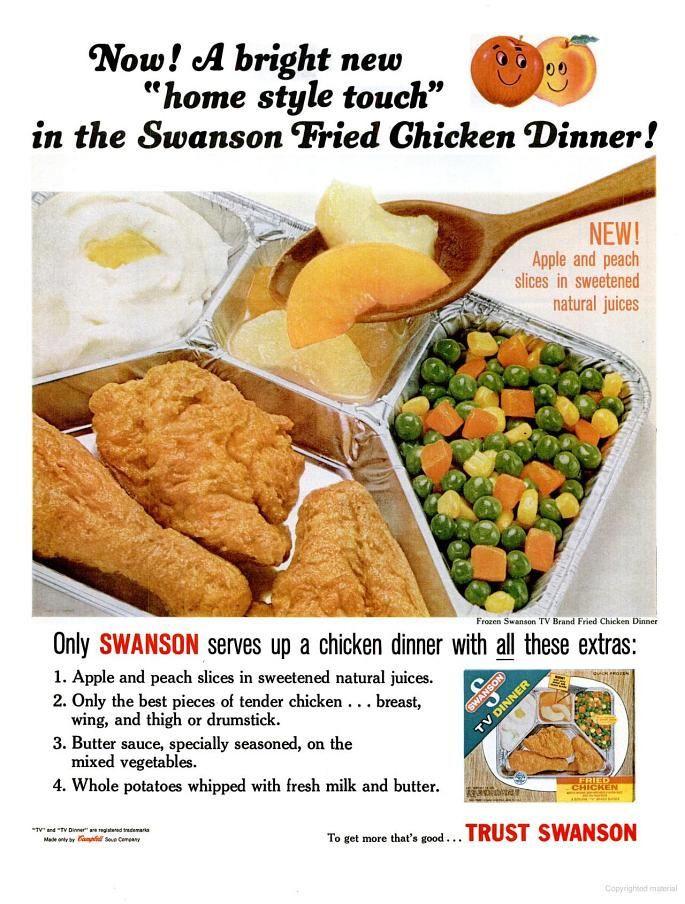 Swanson Frozen Dinners  Swanson s Frozen Dinner 1965 1965