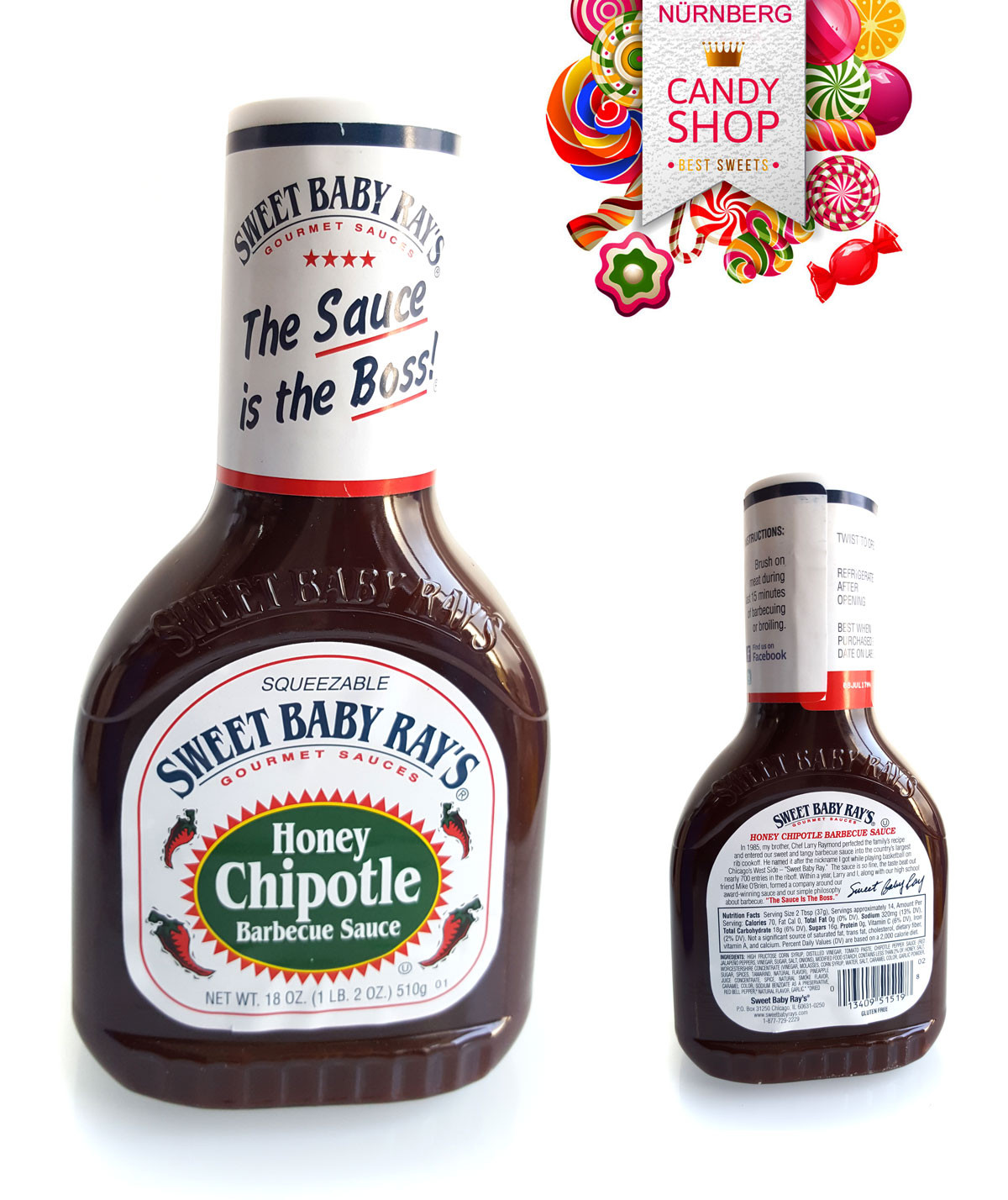 """Sweet Baby Ray'S Bbq Sauce  Barbecue Sauce Sweet Baby Ray s """"Hickory Brown Sugar"""" 510g"""
