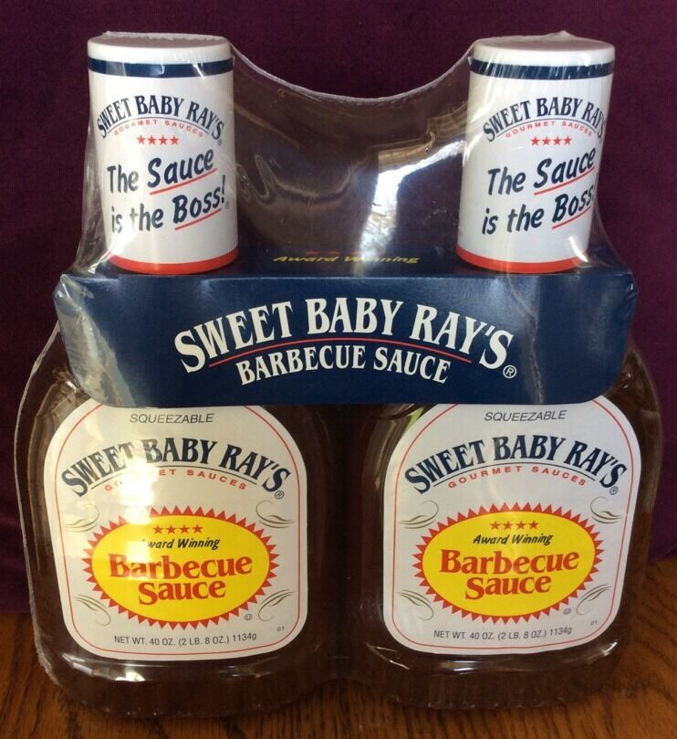 Sweet Baby Ray'S Bbq Sauce  Sweet Baby Ray s Barbecue Sauce 2 x 40 oz bottles ray