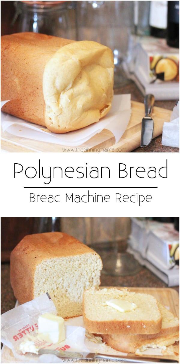 Sweet Bread Machine Recipes  Polynesian Sweet Bread Bread Machine Recipe