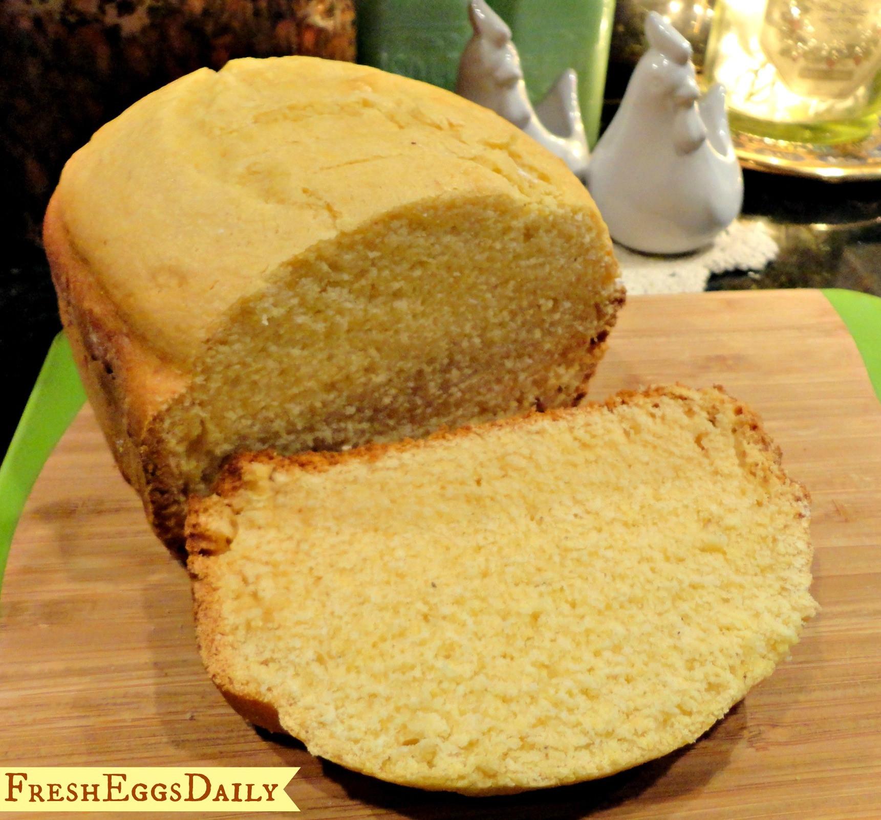 Sweet Bread Machine Recipes  Sweet Cornbread Bread Machine recipe
