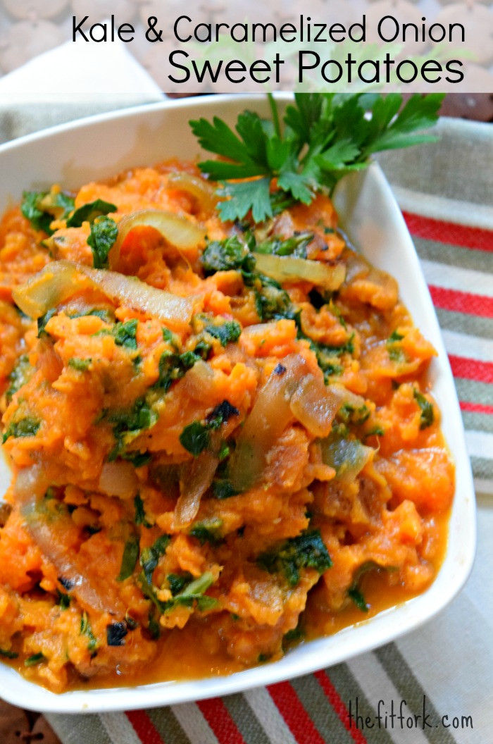 Sweet Mash Potato Recipes  Kale and Caramelized ion Sweet Potatoes Favorite Fall