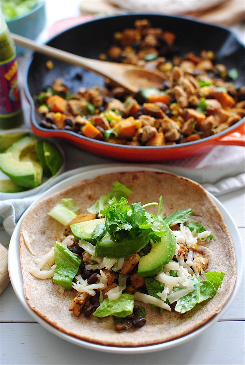 Sweet Potato And Black Bean Tacos  Chicken Black Bean and Sweet Potato Tacos