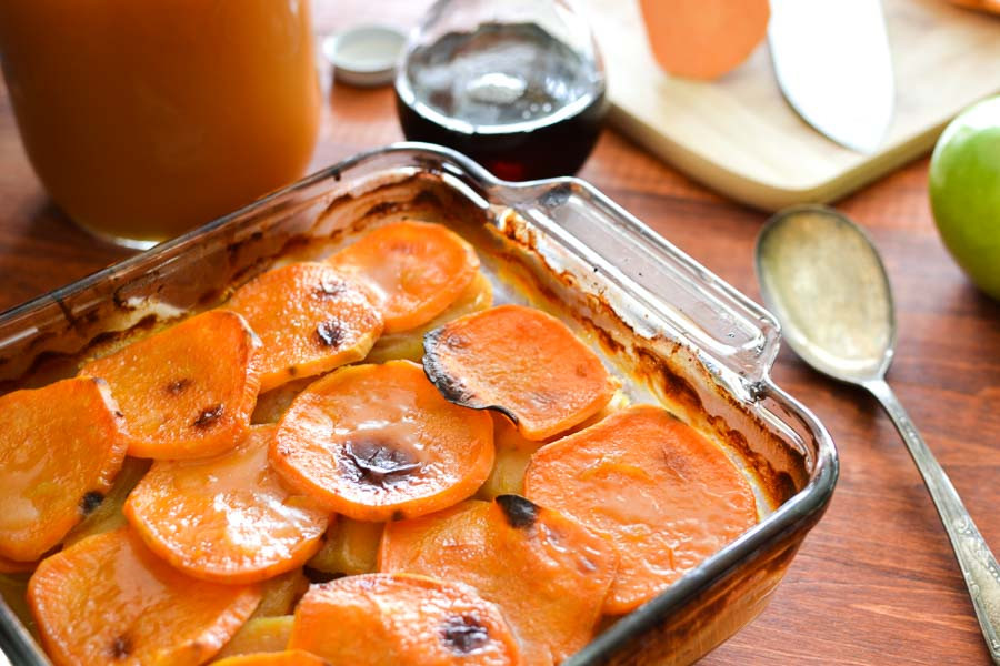 Sweet Potato Apple Cassarole  Cider Glazed Sweet Potato and Apple Bake 21 Day Fix
