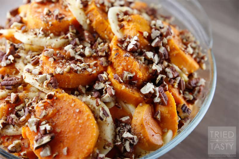 Sweet Potato Apple Cassarole  Honey Glazed Apple & Sweet Potato Casserole Tried and Tasty
