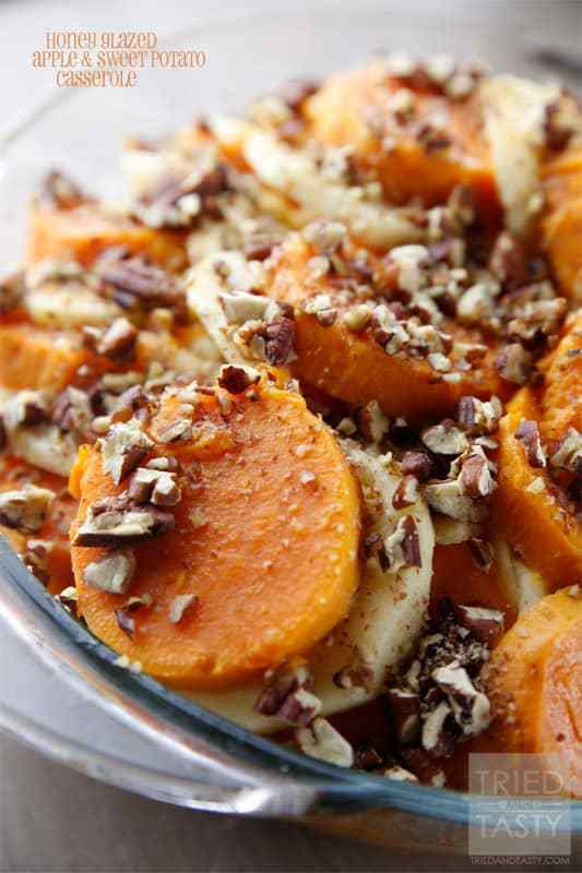 Sweet Potato Apple Cassarole  Honey Glazed Apple & Sweet Potato Casserole