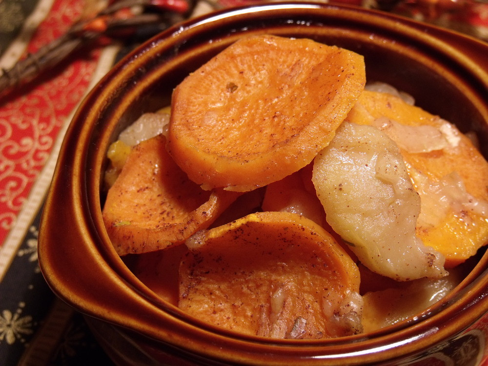 Sweet Potato Apple Cassarole  Apple Sweet Potato Bake