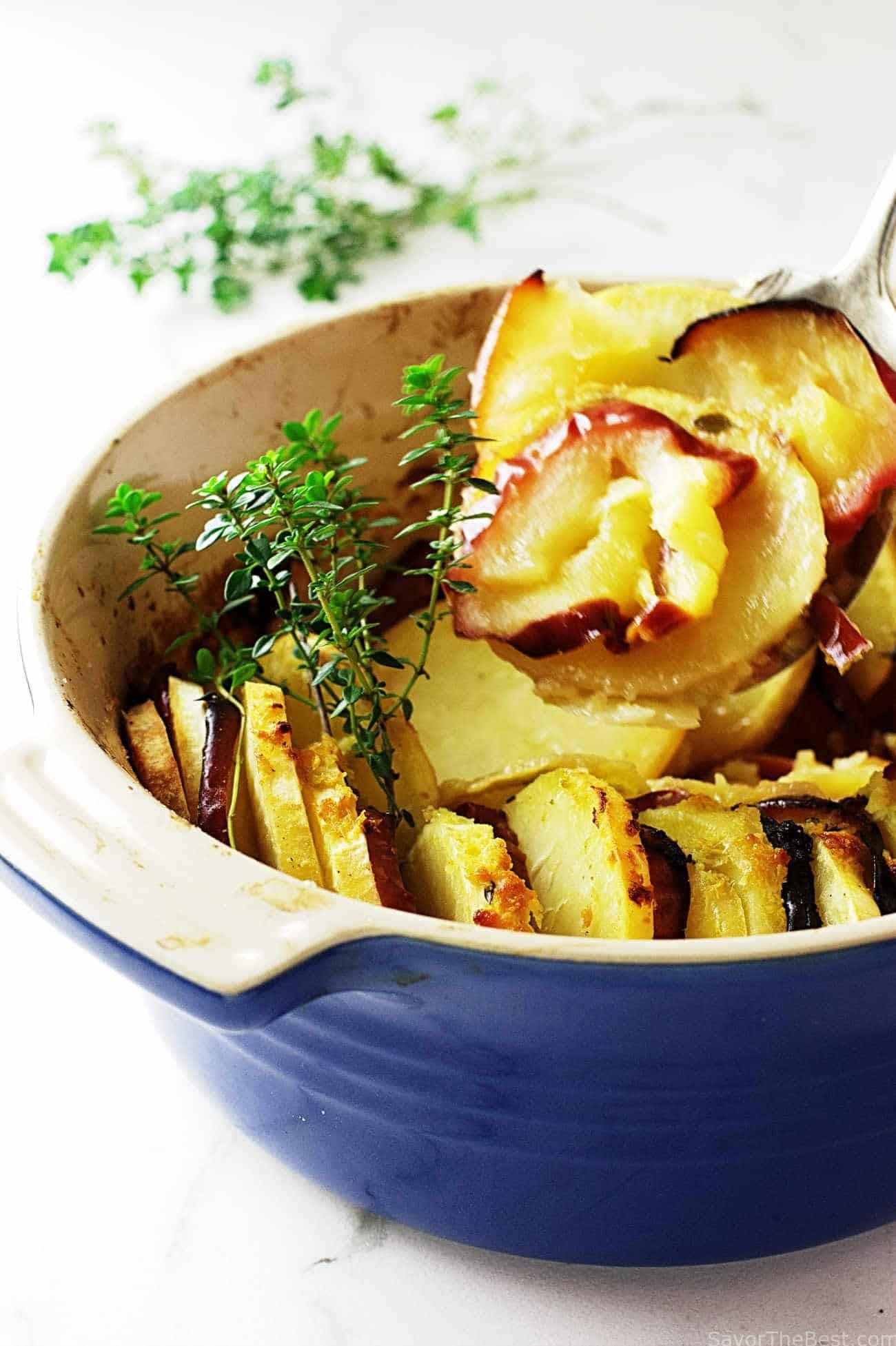 Sweet Potato Apple Casserole  Sweet Potato Apple Casserole Savor the Best